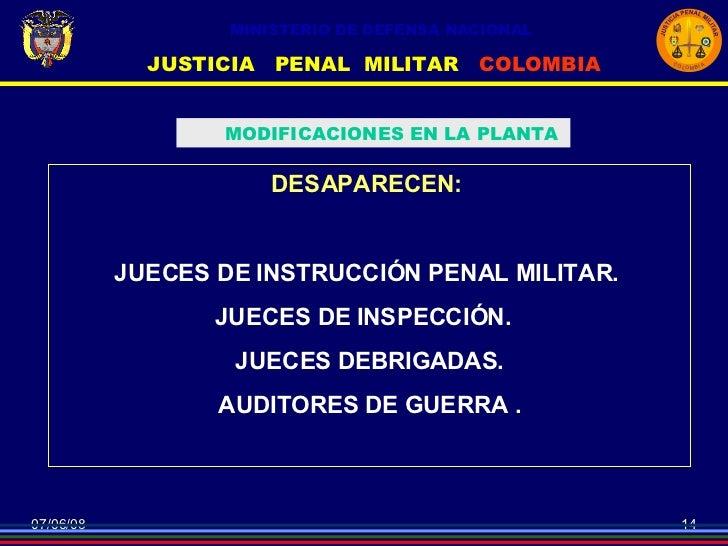Conferencia nuevo codigo penal militar sistema for Porte y trafico de estupefacientes codigo penal
