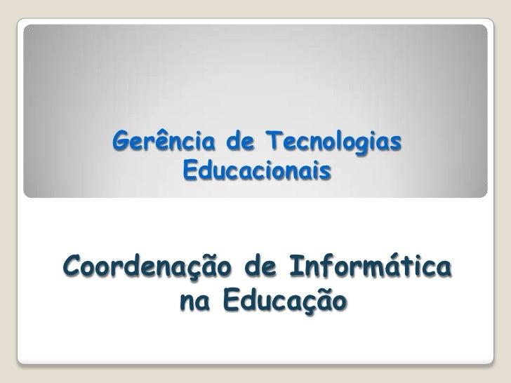 Conferencia apresentação geral
