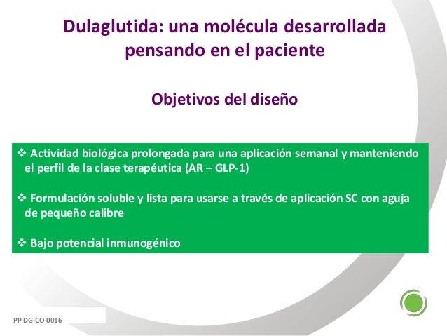 Dulaglutida: una molécula desarrollada pensando en el paciente Objetivos del diseño  Actividad biológica prolongada para ...