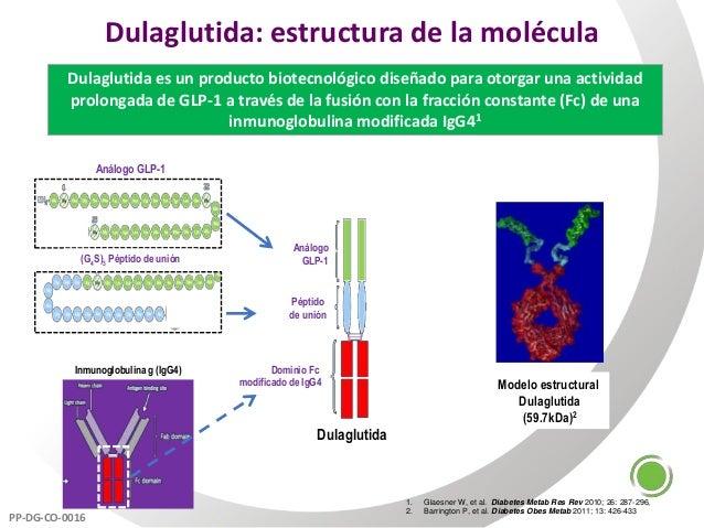 Dulaglutida: estructura de la molécula Dulaglutida es un producto biotecnológico diseñado para otorgar una actividad prolo...