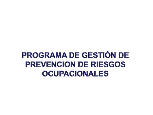 OBJETIVODar a conocer el Programa en Seguridad Industrialy Salud Ocupacional (SYSO), que las empresasdeben seguir para la ...