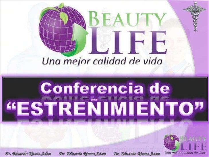 Conferencia -El Estreñimiento- por el Dr. Eduardo Adán Rivera