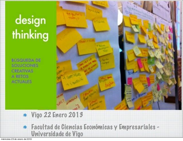 Vigo 22 Enero 2013                            Facultad de Ciencias Económicas y Empresariales -                           ...