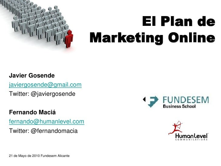 El Plan de Marketing Online | Un caso práctico