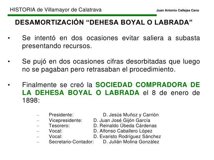 HISTORIA de Villamayor de CalatravaJuan Antonio Callejas Cano<br />EDAD CONTEMPORÁNEA<br /><ul><li>1808-1833