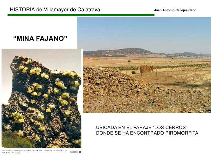 Reinado de Alfonso XII</li></li></ul><li>HISTORIA de Villamayor de CalatravaJuan Antonio Callejas Cano<br />EDAD CONTE...