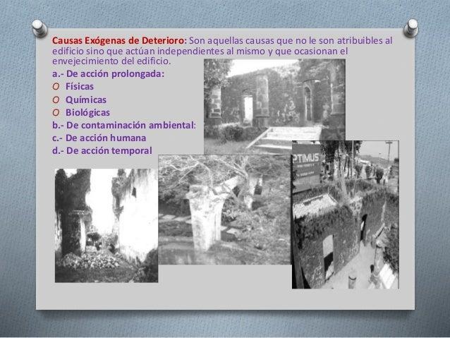 Resultado de imagen de esquema contaminacion y monumentos