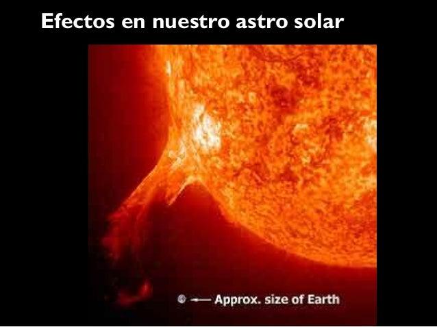 Efectos en nuestro astro solar
