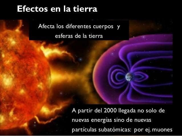 Efectos en la tierra     Afecta los diferentes cuerpos y           esferas de la tierra                 A partir del 2000 ...