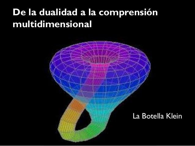 De la dualidad a la comprensiónmultidimensional                         La Botella Klein