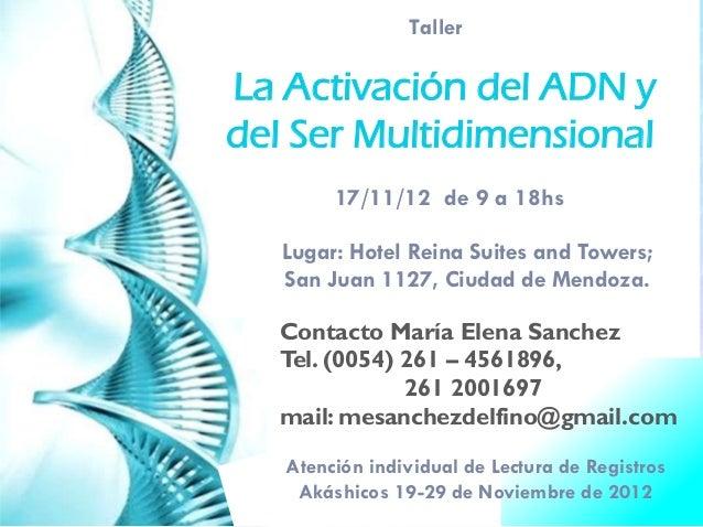 Qué pasa realmente en el 2012. Conferencia internacional sobre el 2012 y la Activacion del ADN