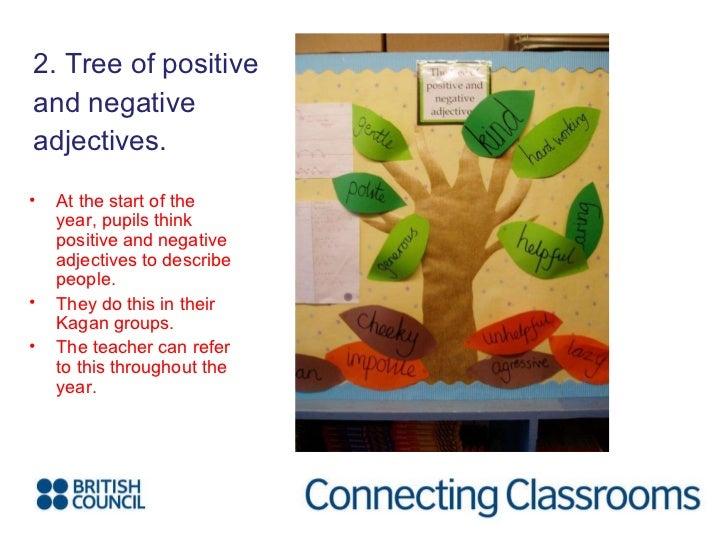 <ul><li>2. Tree of positive  </li></ul><ul><li>and negative </li></ul><ul><li>adjectives. </li></ul><ul><li>At the start o...