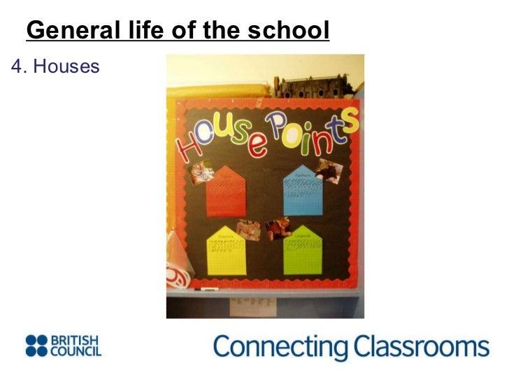 <ul><li>4. Houses </li></ul>General life of the school