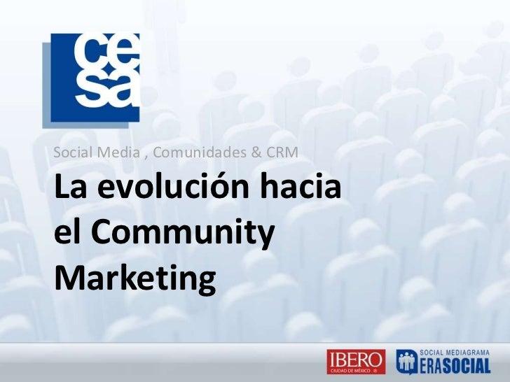 Social Media , Comunidades & CRMLa evolución hacia el Community Marketing<br />