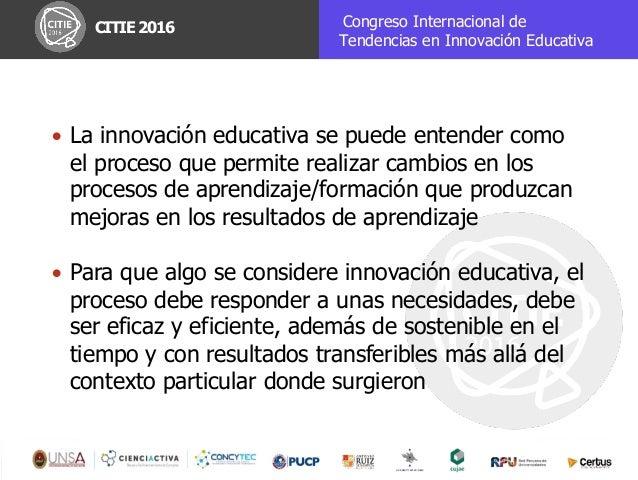 Construyendo el nuevo ecosistema de aprendizaje en clave de Innovación Educativa Slide 3