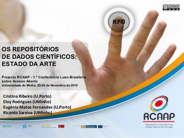 Cristina Ribeiro (U.Porto) Eloy Rodrigues (UMinho) Eugénia Matos Fernandes (U.Porto) Ricardo Saraiva (UMinho) OS REPOSITÓR...