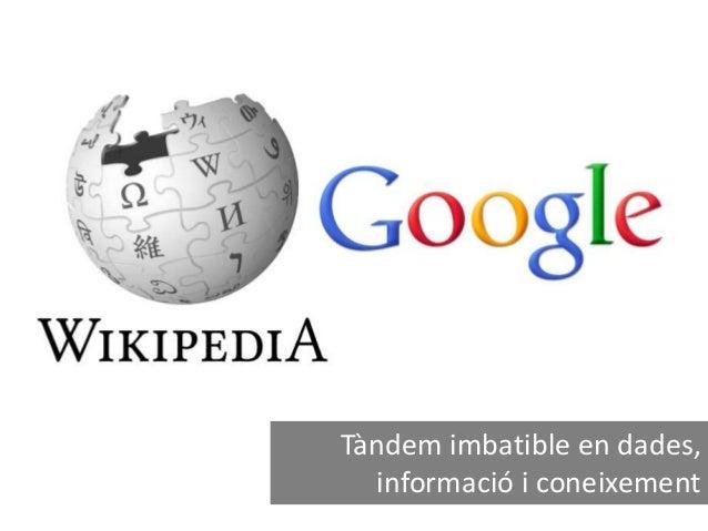 Tàndem imbatible en dades, informació i coneixement