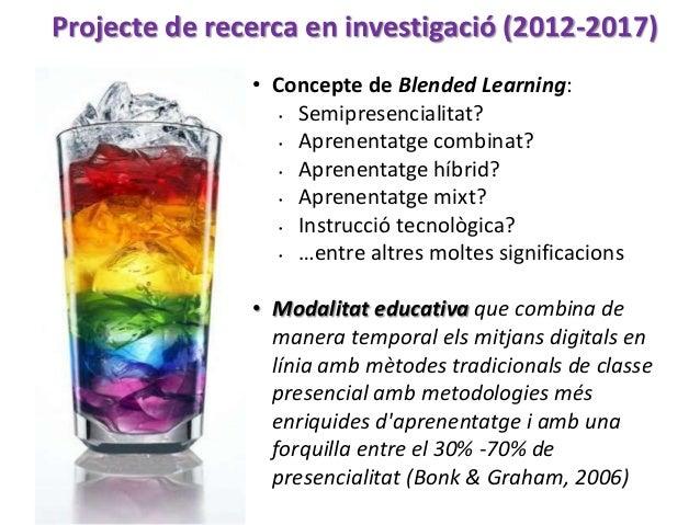 Conclusiones Esquema de tipologies del Blended Learning en el panorama universitari de parla catalana