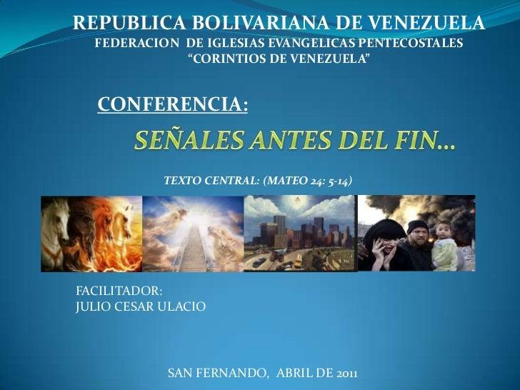 "REPUBLICA BOLIVARIANA DE VENEZUELA<br />FEDERACION  DE IGLESIAS EVANGELICAS PENTECOSTALES <br />""CORINTIOS DE VENEZUELA""<b..."