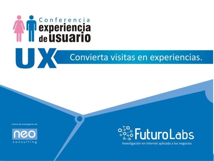 Futuro Labs, centro de Inves2gación de:                               Única empresa peruana cer-ficada ...