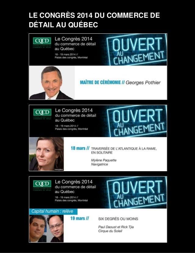 LE CONGRÈS 2014 DU COMMERCE DE DÉTAIL AU QUÉBEC