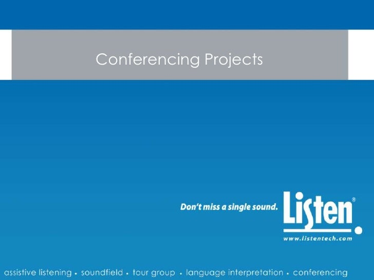 Conferencing Projects<br />