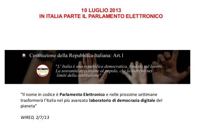 conferenza stampa diapositive lancio parlamento