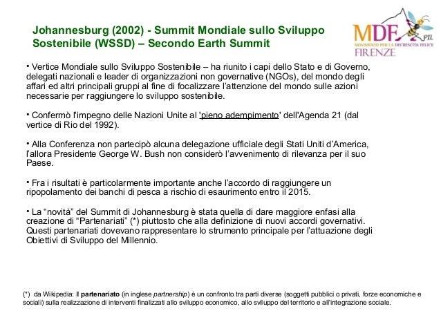 Johannesburg (2002) - Summit Mondiale sullo Sviluppo Sostenibile (WSSD) – Secondo Earth Summit • Vertice Mondiale sullo Sv...