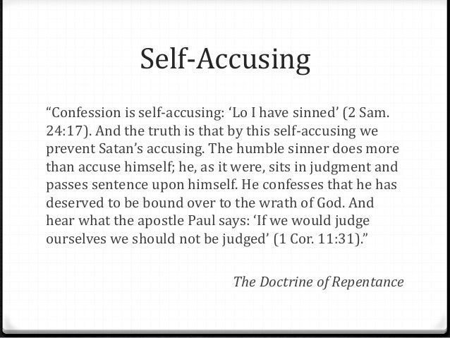 Confessions: Repentance