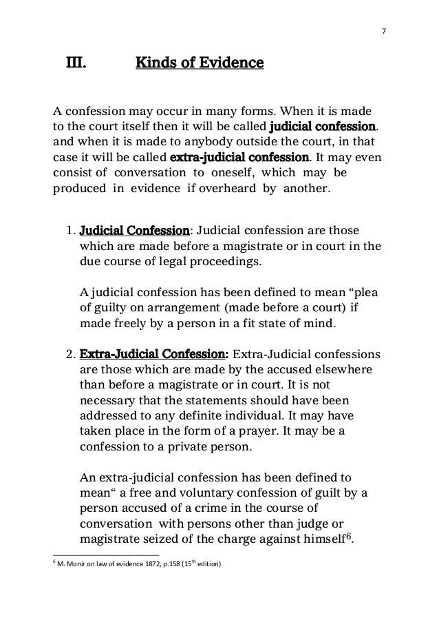 confession an overview