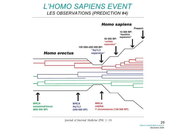 L'HOMO SAPIENS EVENT LES OBSERVATIONS (PREDICTION #4) [email_address] Décembre 2008