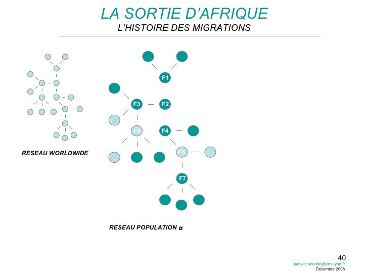 LA SORTIE D'AFRIQUE L'HISTOIRE DES MIGRATIONS RESEAU WORLDWIDE RESEAU POPULATION   F1 F2 F3 F4 F6 F5 F7 [email_address] D...