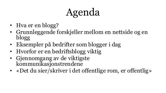 Hvorfor bør bedrifter blogge? Slide 3