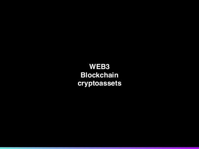 WEB3 Blockchain cryptoassets