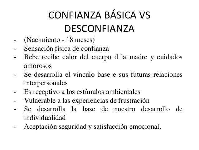 CONFIANZA BÁSICA VS DESCONFIANZA - (Nacimiento - 18 meses) - Sensación física de confianza - Bebe recibe calor del cuerpo ...