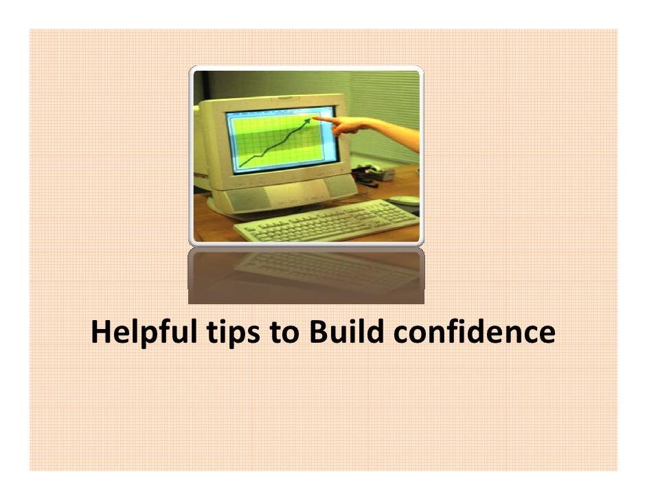 HelpfultipstoBuildconfidence    p      p