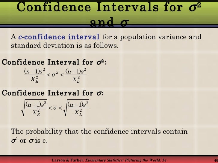 standard deviation and confidence interval solve For a population with unknown mean and known standard deviation , a confidence interval substituting the appropriate values into the expression for m and solving.