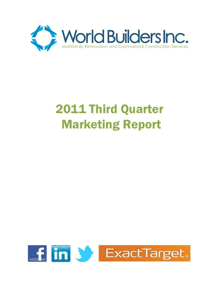 2011 Third Quarter Marketing Report