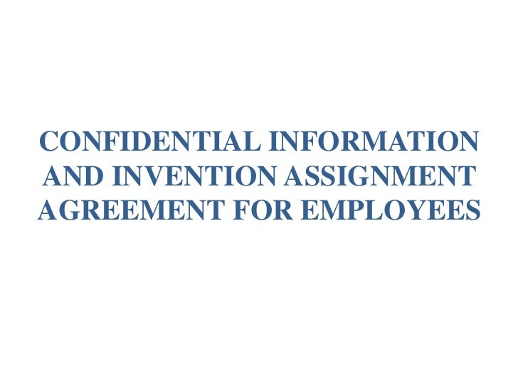 Confidential information and invention assignment agreement for emplo confidential informationand invention assignmentagreement for employees platinumwayz