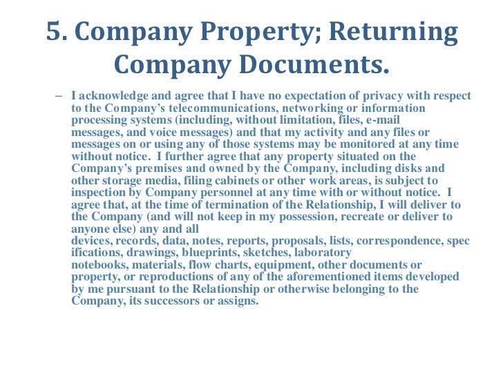 Company Property Agreement Form Heartpulsar