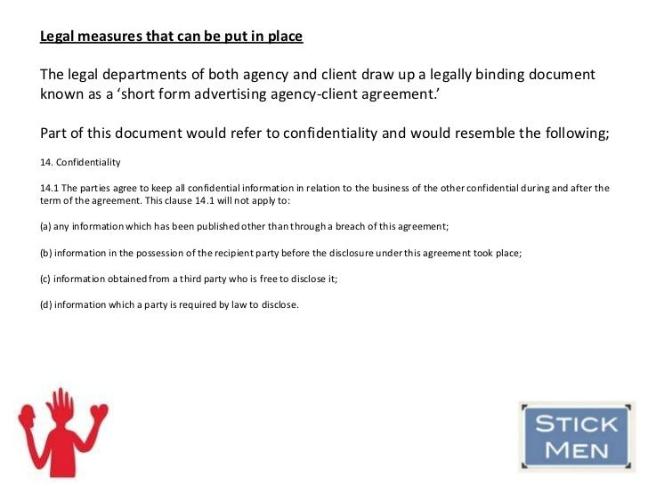 Client Confidentiality In Advertising
