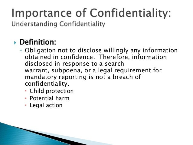 confidentiality and child protection Chccs400c - importance of confidentiality in child abuse situations importance of confidentiality in child abuse of the children's protection act 1993.