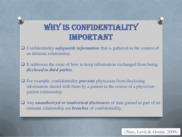 why is confidentiality critical when managing information Read more on confidentiality in workplace and learn how to maintain confidentiality is important for a lot of and management of employees is.
