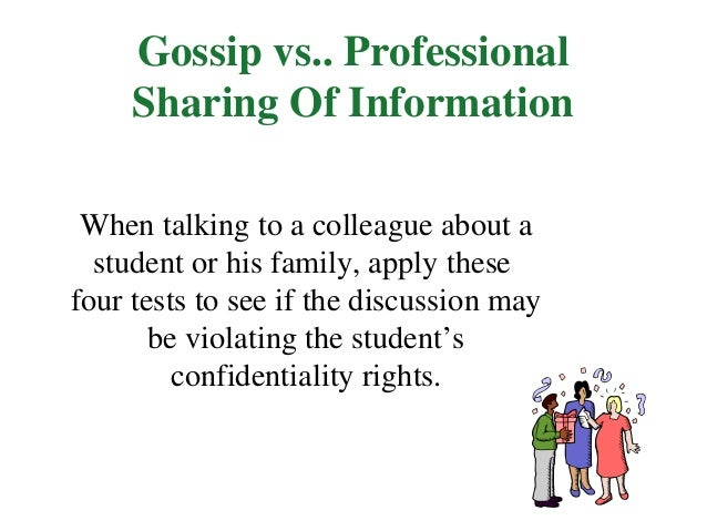 confidentiality & information sharing essay In the confidentiality privilege (everstine et al, 1980, p836) undoubtedly, breaking confidentiality in any case can interfere with the trust between client and professional and make it difficult to help the client.