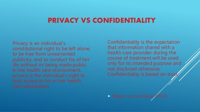 privacy and confidentiality in health care setting It is the business record of the health care system, documented in the normal  course  although the record belongs to the facility or doctor, it is truly the  patient's.