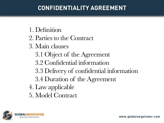 Confidentiality Agreement  Contract Template And Sample
