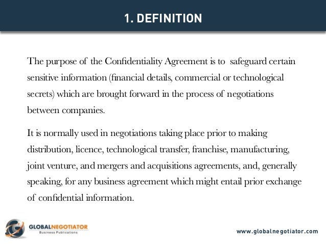 Model Contract Www.globalnegotiator.com; 2.  Confidentiality Clause Contract