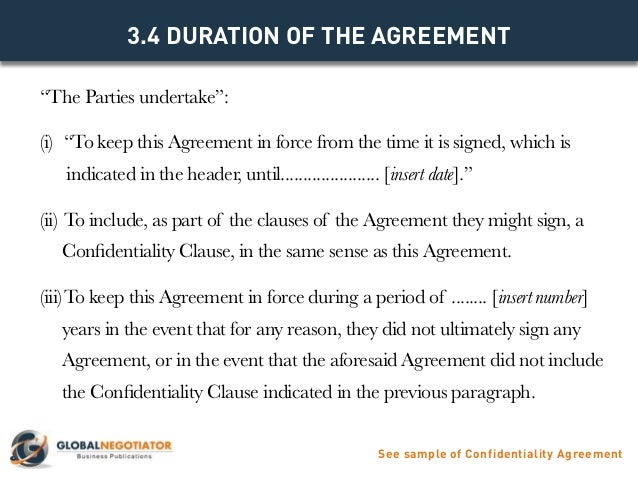 CONFIDENTIALITY AGREEMENT Contract Template and Sample – Confidentiality Clause Contract