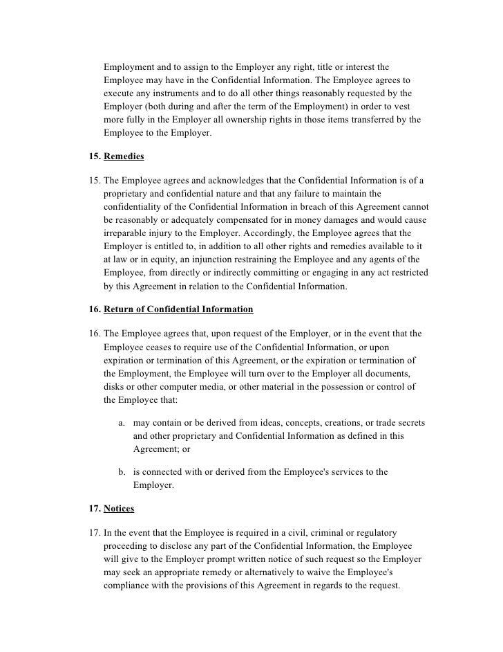 Employee Confidentiality Agreement Akbaeenw