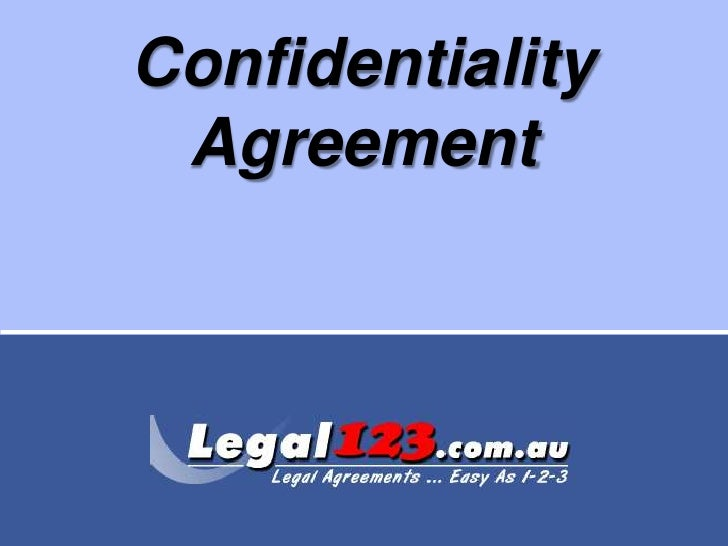Confidentiality Agreement<br />